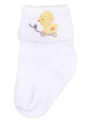 Magnolia Baby Boys / Girls Tiny Ducky Embroidered Socks