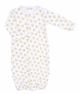 Magnolia Baby Boys / Girls Yellow Tiny Ducky Converter Gown