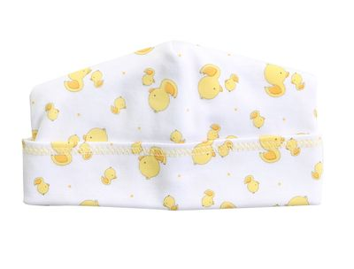 Magnolia Baby Boys / Girls Yellow Tiny Rubber Ducky Hat