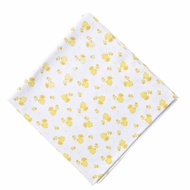Magnolia Baby Boys / Girls Yellow Tiny Rubber Ducky Printed Swaddle Blanket