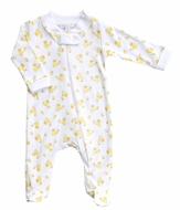 Magnolia Baby Boys / Girls Yellow Tiny Rubber Ducky Zipped Footie