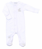 Magnolia Baby Girls / Boys White Tiny Sheep Footie