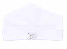 Magnolia Baby Boys / Girls White Tiny Sheep Hat