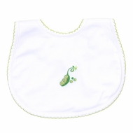 Magnolia Baby Tiny Green Sweet Pea Bib