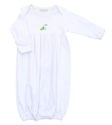 Magnolia Baby Boys / White Tiny Sweet Pea Gown - White