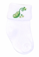 Magnolia Baby Tiny Green Sweet Pea Socks