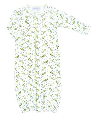 Magnolia Baby Green Tiny Sweet Pea Printed Converter Gown