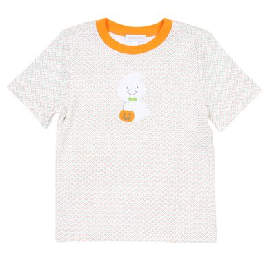 Magnolia Baby / Toddler Boys Trick or Treat Applique Ghost Shirt