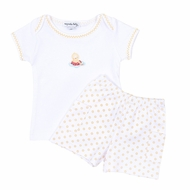 Magnolia Baby Toddler Boys Yellow Fun in the Sun Embroidered Duck Short Set