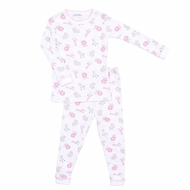 Magnolia Baby / Toddler Girls Safari Animals Long Sleeve Pajamas - Pink