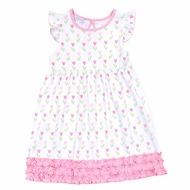 Magnolia Baby Little Girls Pink Spring Tulips Ruffle Dress