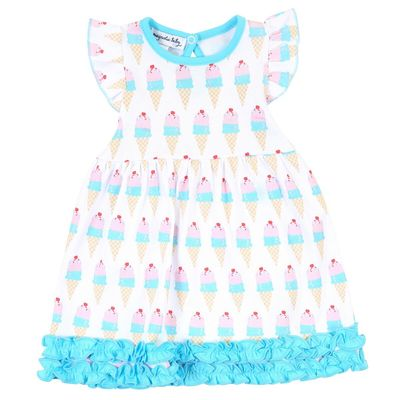 Magnolia Baby Girls Two Scoops Ice Cream Printed Flutters Dress