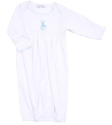 Magnolia Baby Boys Vintage Easter Bunny Embroidered Gown - Blue