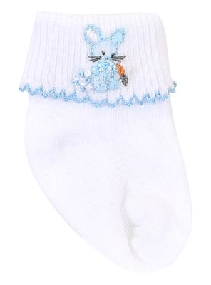 Magnolia Baby Boys Vintage Cottontail Bunny Socks - Blue