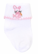 Magnolia Baby Girls Vintage Cottontail Bunny Socks - Pink