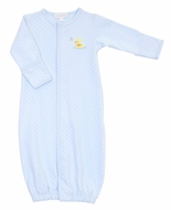 Magnolia Baby Boys Vintage Ducky Converter Gown - Blue
