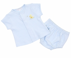 Magnolia Baby Boys Blue Vintage Ducky Diaper Cover Set