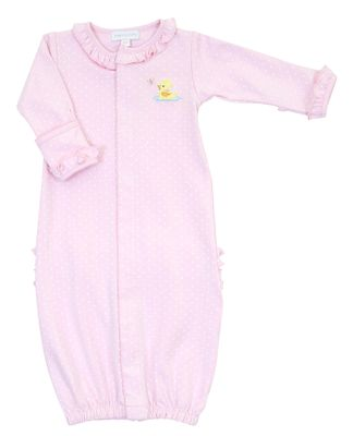 Magnolia Baby Girls Vintage Ducky Ruffle Converter Gown - Pink