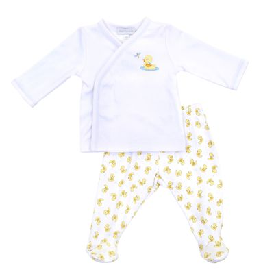 Magnolia Baby Vintage Ducky Yellow Footed Pant Set