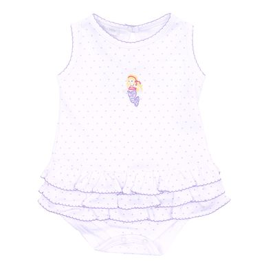 Magnolia Baby Girls Lavender Vintage Mermaid Ruffle Bubble