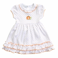Magnolia Baby Girls Vintage Pumpkin Dress Set