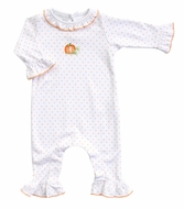 Magnolia Baby Girls Vintage Pumpkin Ruffle Playsuit