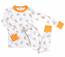 Magnolia Baby Little Girls / Boys Vintage Pumpkin Long Pajamas