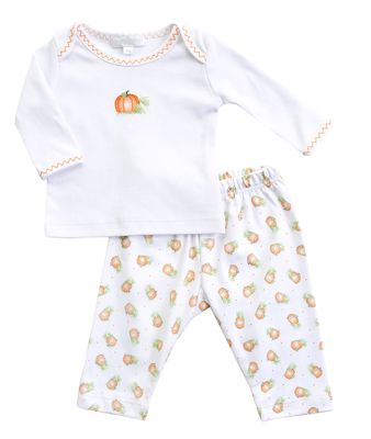 Magnolia Baby Boys / Girls Vintage Pumpkin Printed Pant Set