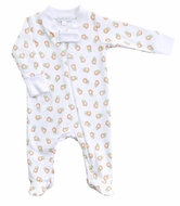 Magnolia Baby Boys / Girls Vintage Pumpkin Printed Zipped Footie