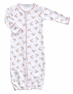 Magnolia Baby Boys Vintage Rudolph Printed Converter Gown