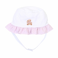 Magnolia Baby Girls Vintage Teddy Bear Floppy Hat - Pink