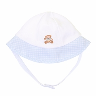 Magnolia Baby Boys Vintage Teddy Bear Sun Hat - Blue