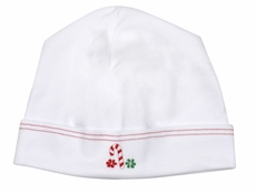 Magnolia Baby White Christmas Embroidered Candy Cane Hat