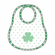 Magnolia Baby White Cutest Little Clover Applique Bib