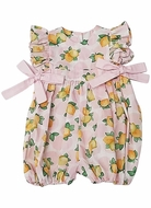 Marco & Lizzy Baby Girls Pink Positano Lemons Bubble with Bows