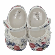 Martin Aranda Baby Girls Shoes - Ivory with Floral Details