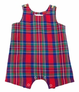 Me Me Baby / Toddler Boys Red Holiday Plaid Pete Shortall