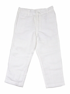 Me Me Boys Linen Blend Pants - White