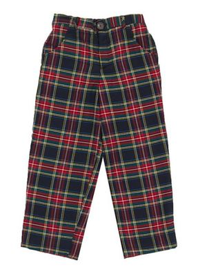 Nantucket Kids Boys Stewart Blue Tartan Pants
