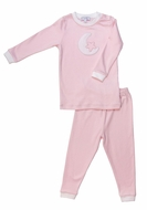 Nella Pima Cotton Moon & Star Pajamas - Pink