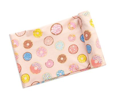 Angel Dear Baby Girls Pink Donuts Bamboo Swaddle Blanket