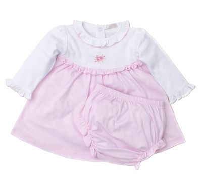 Kissy Kissy Baby Girls Pink Winter Rosebuds Dress Set
