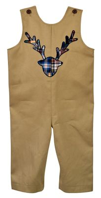 Funtasia Baby / Toddler Boys Tan Longall - Plaid Antlers