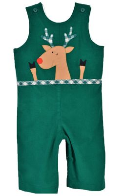 Funtasia Baby / Toddler Boys Green Longall - Reindeer