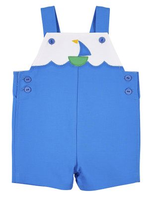 Florence Eiseman Baby Boys Blue Pique Shortall - Sailboat