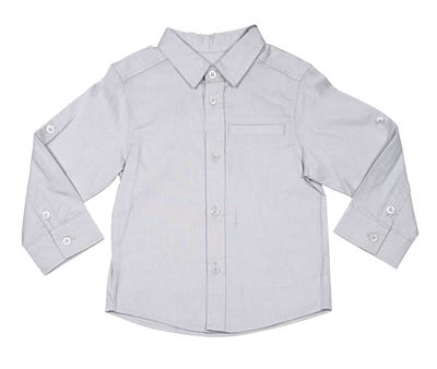 Deux Par Deux Boys Long Sleeved Dress Shirt - Soft Gray