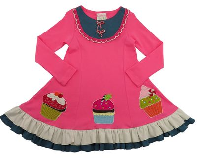 Lemon Loves Lime Girls Pink Birthday Cupcake Festive Dress