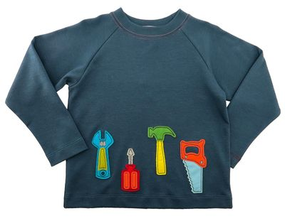 Gnu Brand for Boys - Blue My Favorite Tools Tee Shirt