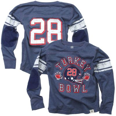 Wes & Willy Boys Midnight Blue Thanksgiving Turkey Bowl Jersey