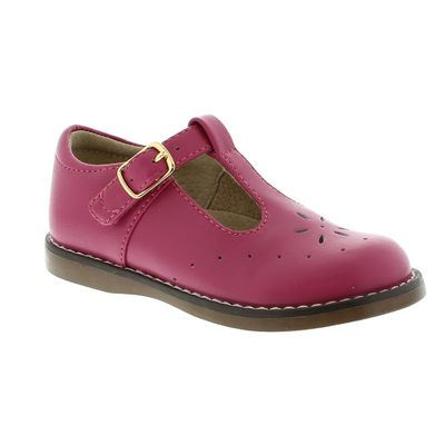 Footmates Girls Shoes - Sherry T-Strap - Fuchsia Pink